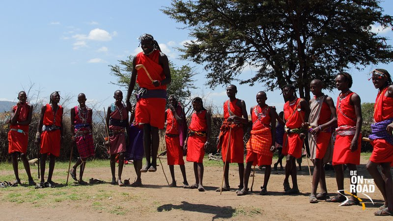 Adumu Dance performed by Maasai tribals