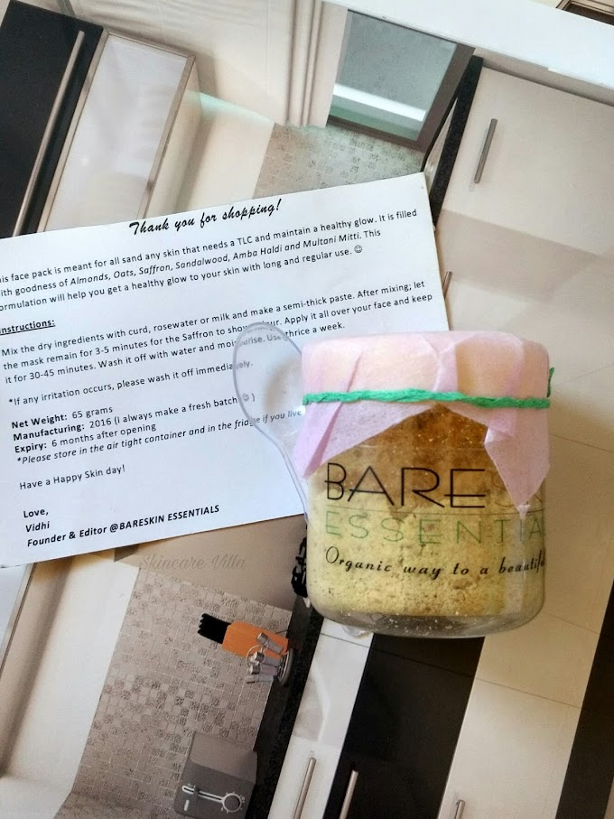 BareSkin Essentials Healthy and Glowing Skin Mask Review
