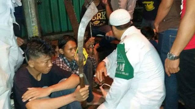 Diserang Saat Pulang Tabligh Akbar, LPI Bekasi Berhasil Serahkan Belasan Preman ke Polisi
