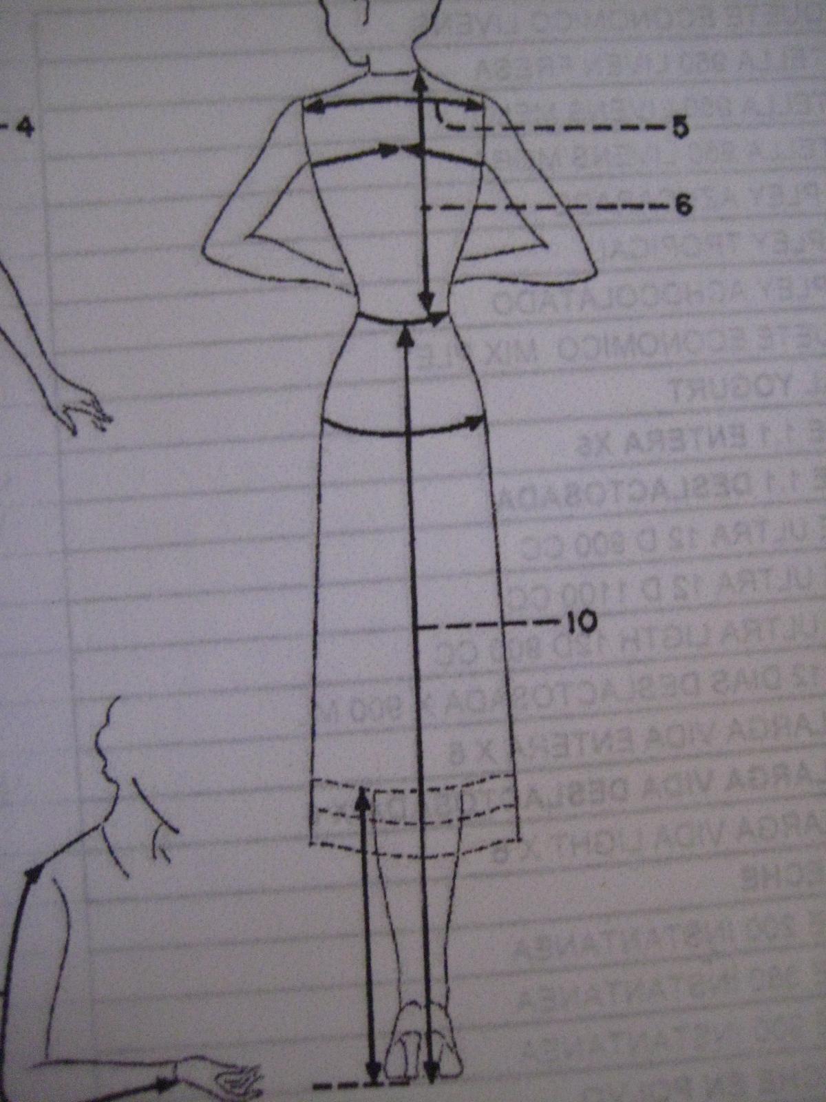 Como tomar medidas vestido mujer