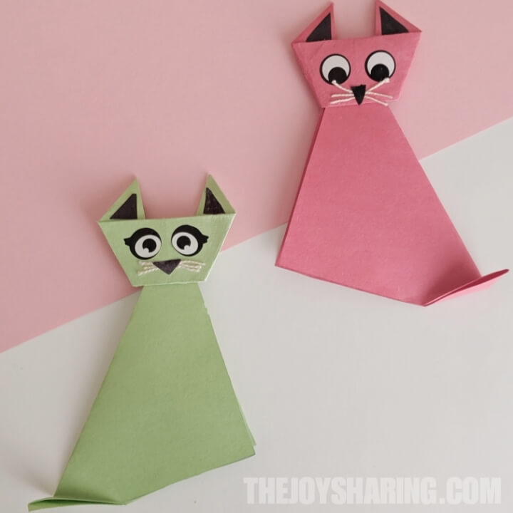 easy origami cat step by step instructions