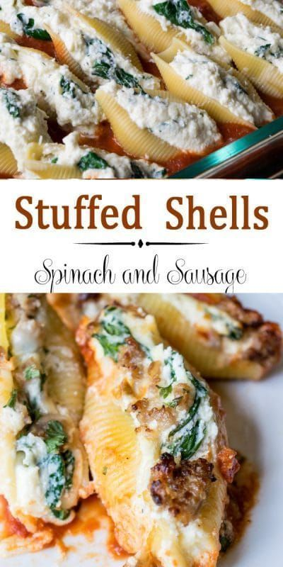 Stuffed Shells With Spinach And Sausage