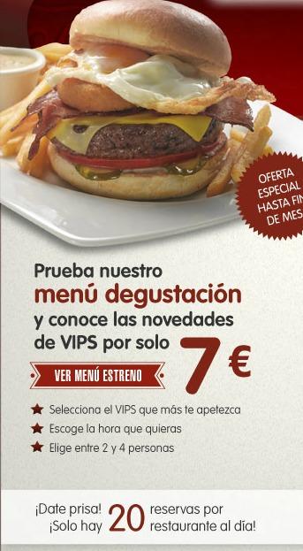 Cena En El Vips Por 7 Euros Dont Stop Madrid