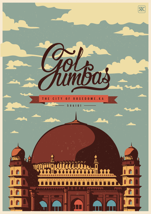 GolGumbaz Travel Poster