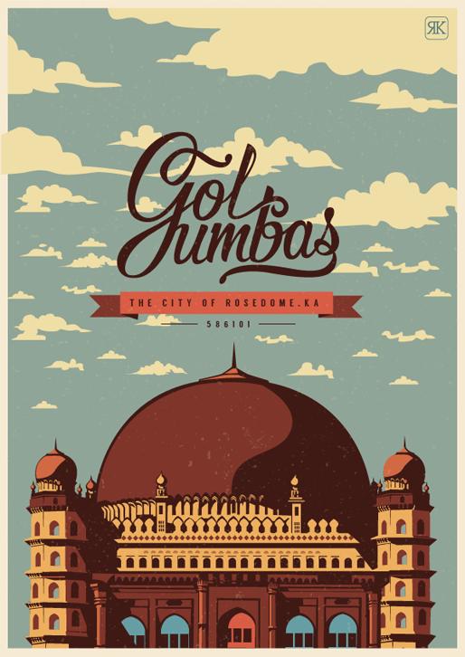 GolGumbaz Travel Poster