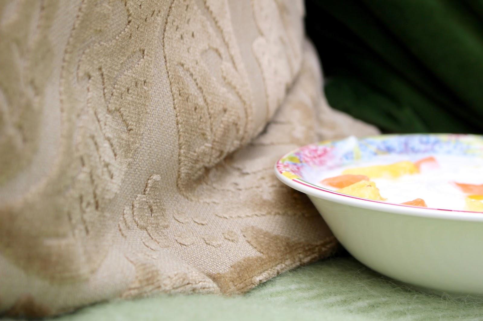 Blogger setup fruit and yoghurt bowl