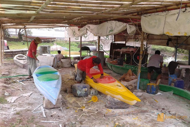 cara membuat perahu kano