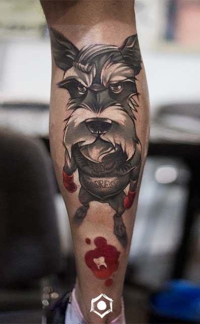 tatuagens femininas de cachorros