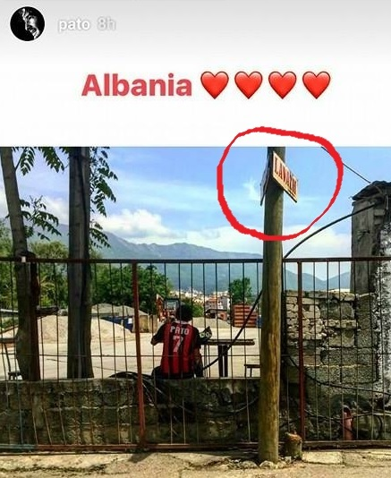 Alexandre Pato publishes photos from Albania