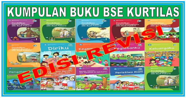 Download Kumpulan Buku BSE Kurikulum 2013 REVISI Jenjang SD Lengkap Kelas 1,2,4 dan 5