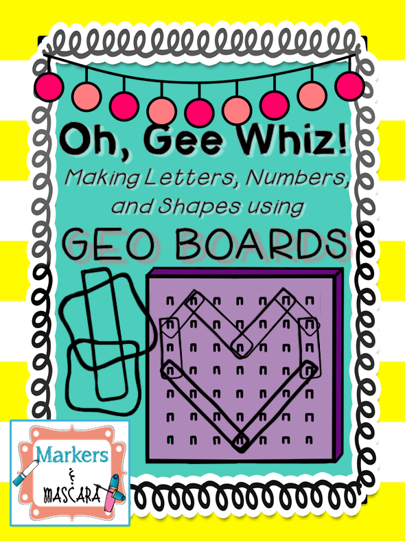 http://www.teacherspayteachers.com/Product/FREEBIE-Oh-Gee-Whiz-Math-Centers-with-Geo-Boards-1304046