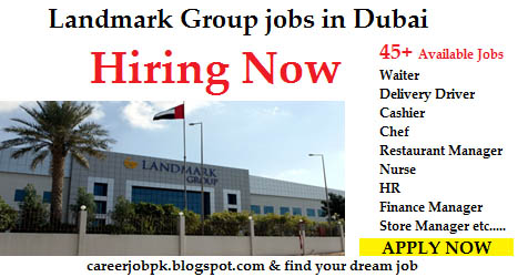 Landmark Group jobs vacancy in Dubai