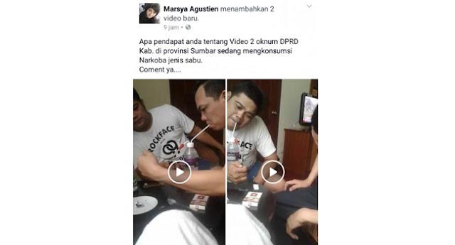 Video Diduga Dua Anggota DPRD Lagi Asik Nyabu Sosial Media