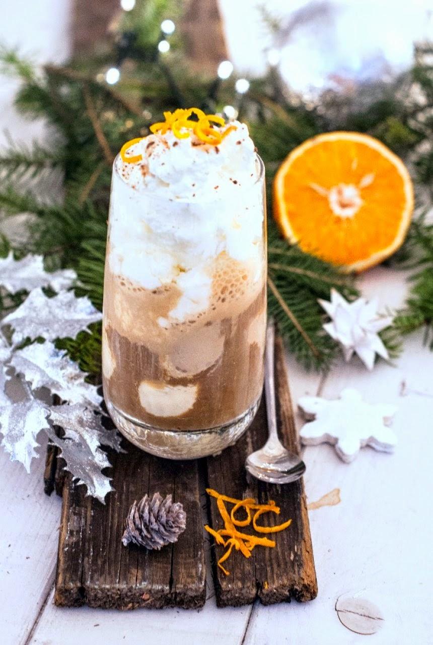 Kawa pomarańczowa z lodami