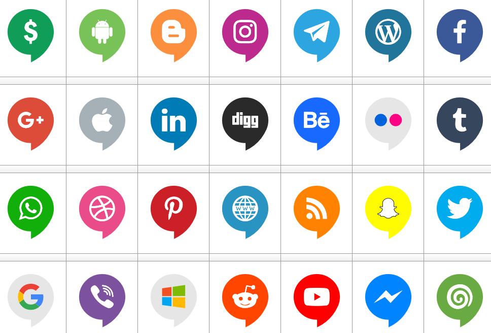 Download Font Icons Social Media 14 font ttf otf 120 #icons elharrak #fonts #font #icon font #logos font #logo font #socialmedia #color 2019