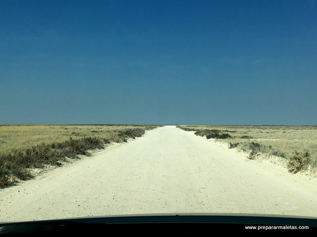 safari en coche por Namibia, carreteras
