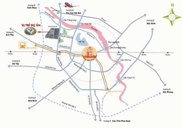 Vị trí dự án chung cư Ecohome 3 Bắc Cổ Nhuế