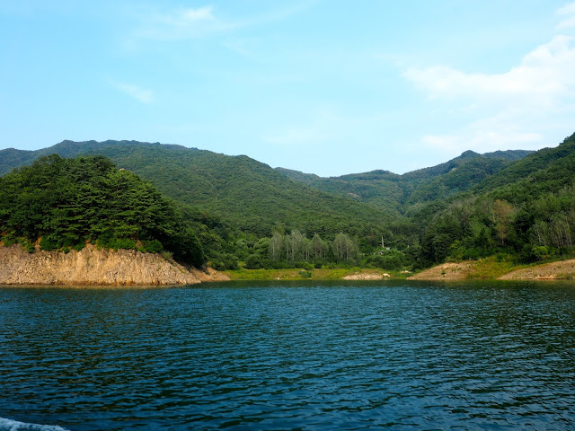 Boat cruise along Soyang Dam, outside Chuncheon, South Korea