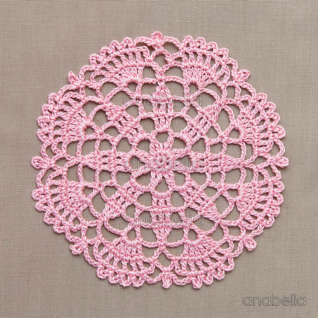 Crochet lace motifs in pink and white, free patterns   Anabelia ...