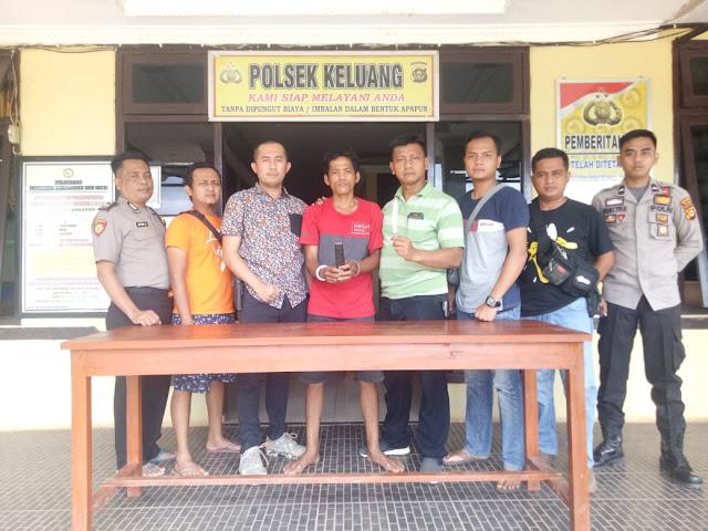 Bawa Sajam, Bambang Digelandang Unit Reskrim Polsek Keluang ke Sel
