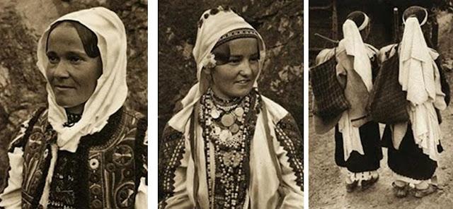 costum popular padureni - imagini perioada interbelica