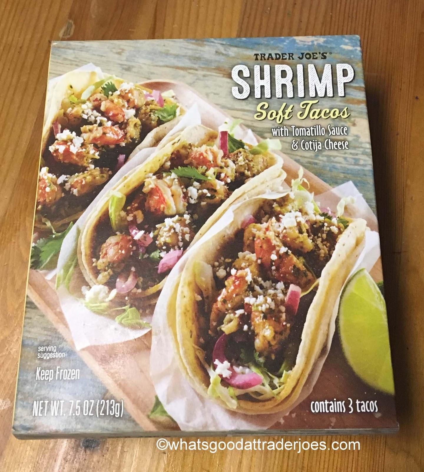 What 39 s good at trader joe 39 s trader joe 39 s shrimp soft tacos for Trader joe s fish