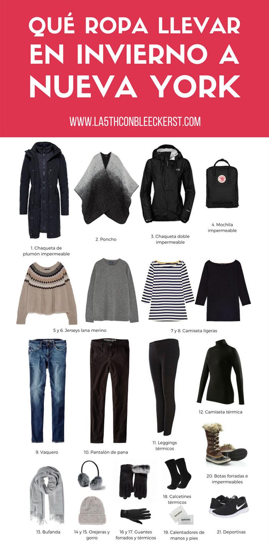 El tiempo en Nueva York que ropa llevar en invierno