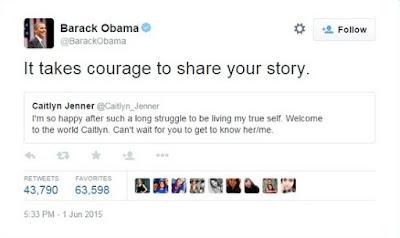 Barack Obama alaba Bruce Jenner