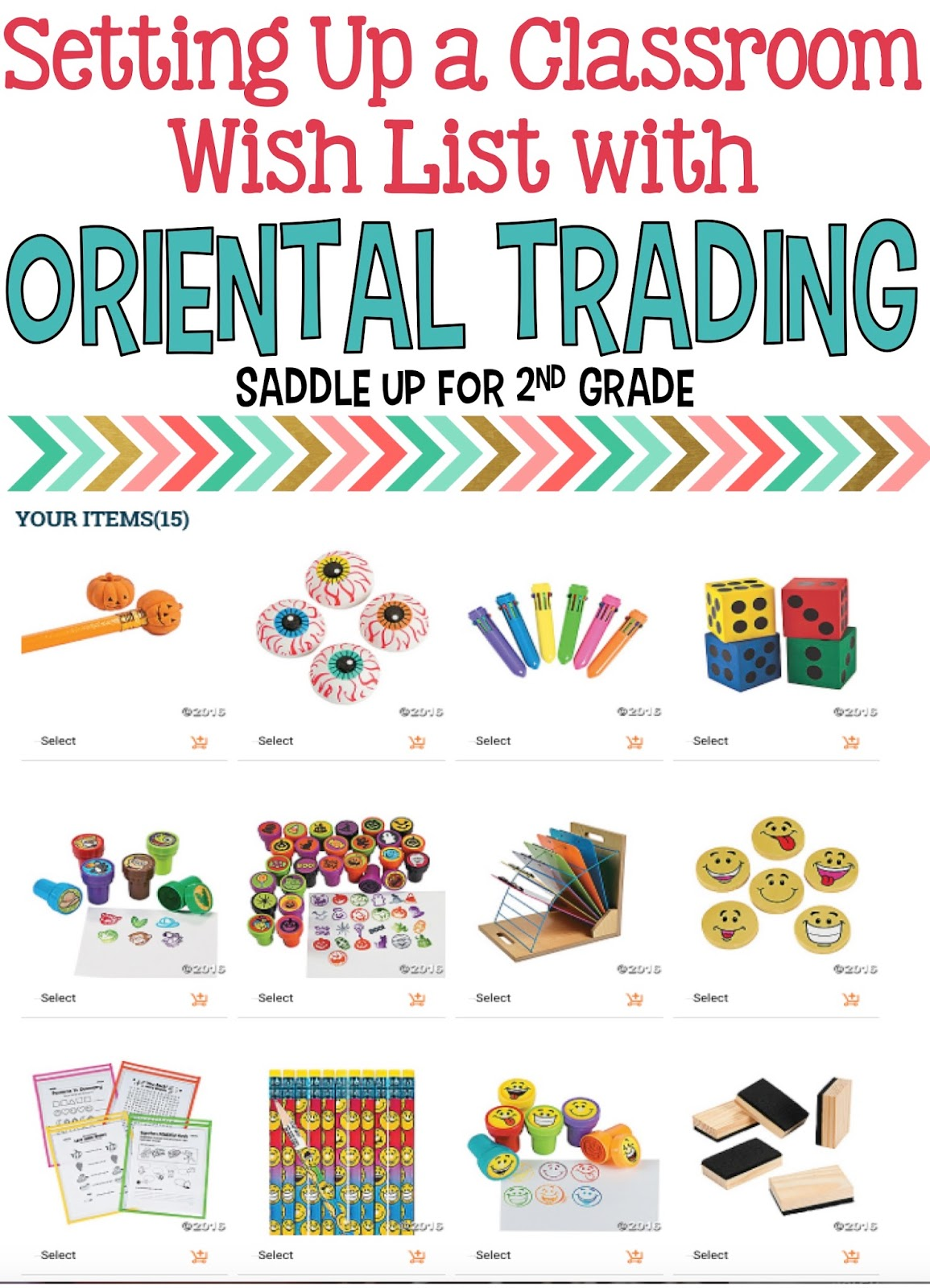 I often get asked by parents to let them know if there is anything we need for our classroom. The simplest way to share these items with parents is to show them a classroom wish list. I'm so excited that Oriental Trading has a new feature that makes it easy to keep my parents informed on what is needed in my classroom.