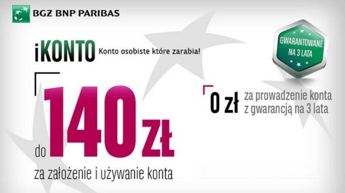 140 zł za założenie iKonta w BGŻ BNP Paribas ba grouponie