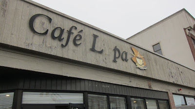 Exterior photo of a now-closed cafe in Long Branch New Jersey