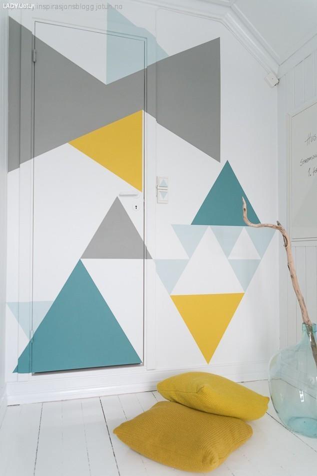 formas geométricas en paredes