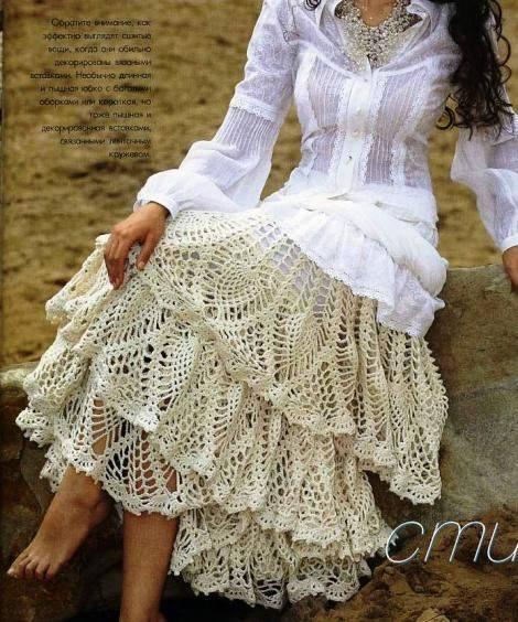 7 Faldas Románticas a Crochet - Colección de Patrones ~ CTejidas ...
