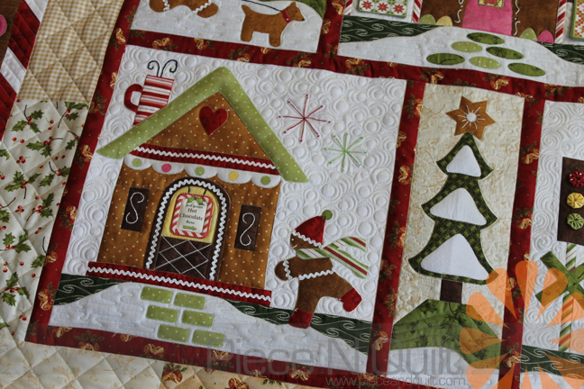 Gingerbread House Quilt Pattern Free : Piece N Quilt: Gingerbread Village - Custom Machine Quilting by Natalia Bonner
