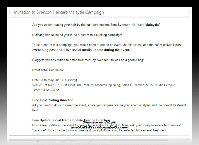 Jemputan Ke Svenson Haircare Malaysia