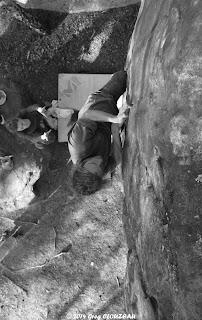 Fissure, 5+, 10 rouge, Rocher du Potala, Trois Pignons, (C) Greg Clouzeau