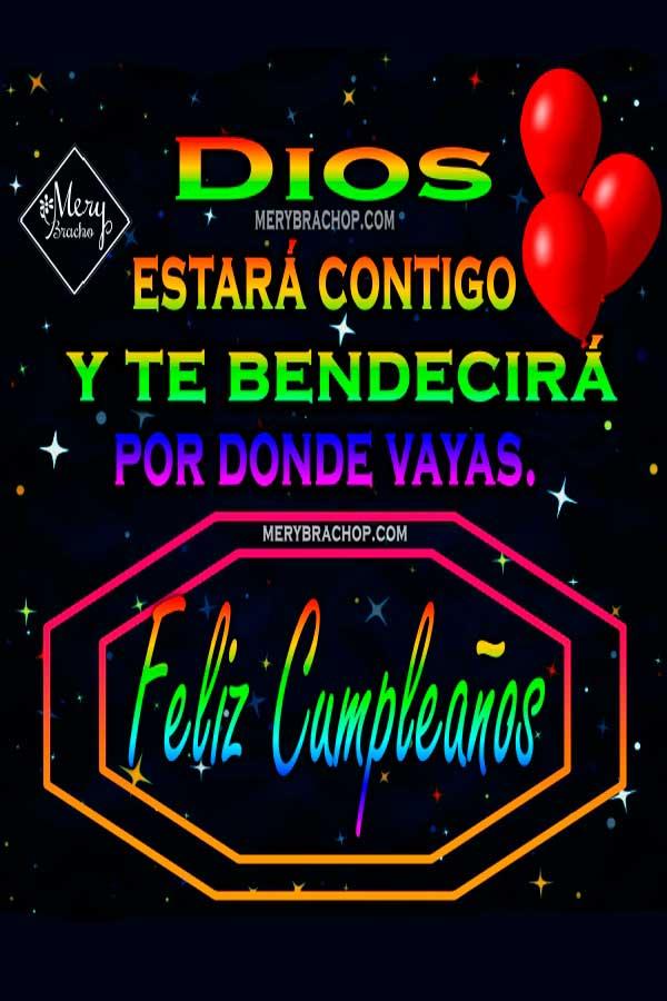 Mensajes con imágenes de cumpleaños cristianas . Bendiciones en cumple, Dios te bendiga tarjetas de felicitaciones, versículos para dedicar a amigos y familia.