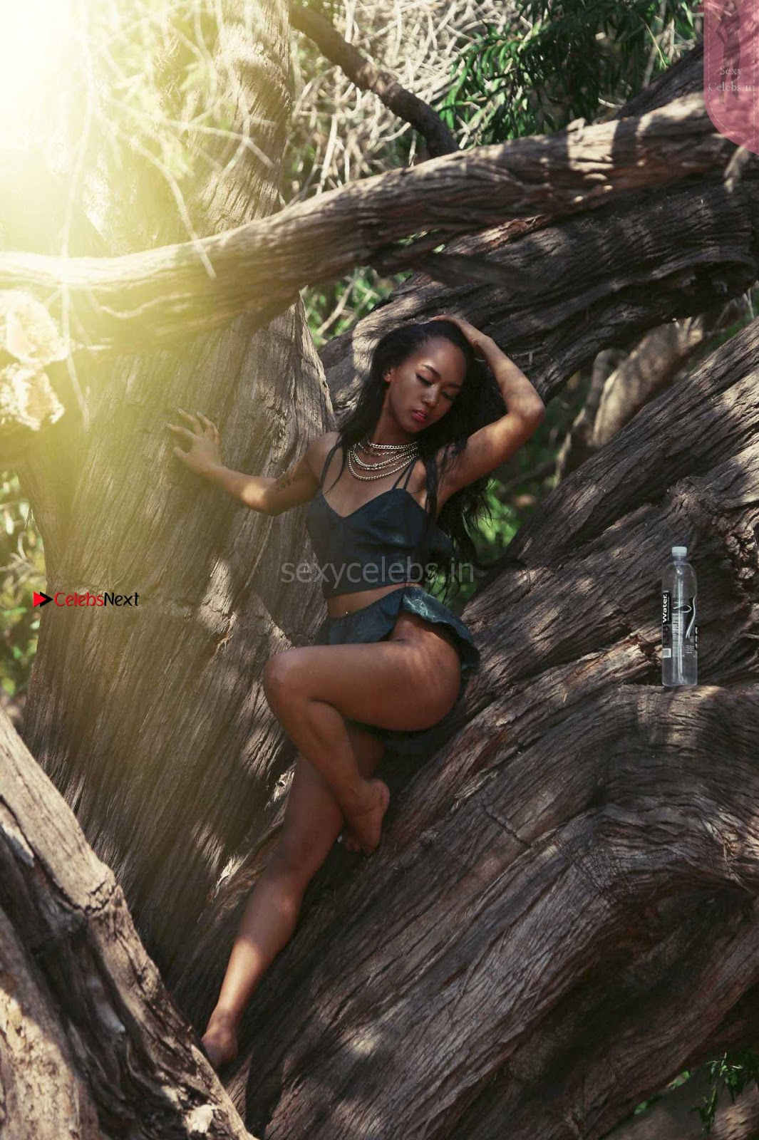 Lailanni Hussein Sexy Bikini in Jungle promoting 138 Waters ~ SexyCelebs.in Exclusive