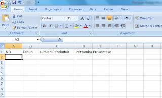 Panduan Belajar Microsoft Excel 2007 Untuk Pemula
