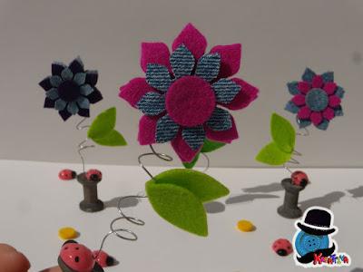 Fiore in feltro 3D