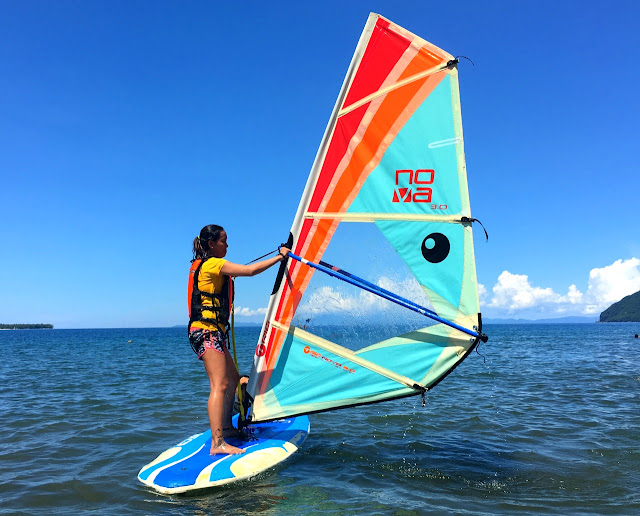 Windsurfing at Parientes Watersports in Hinunangan