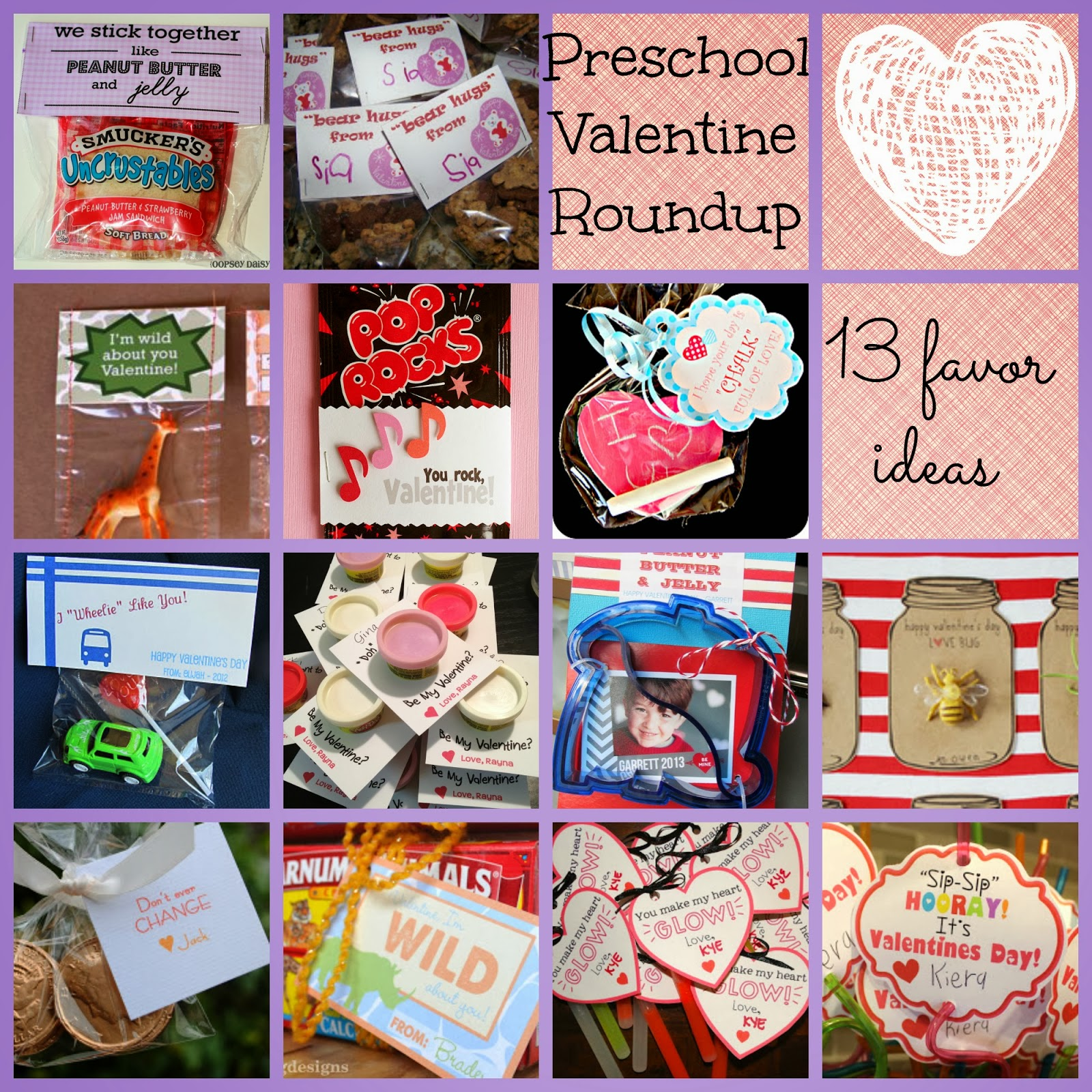 Zucchini Summer 13 Preschool Valentine Favor Ideas