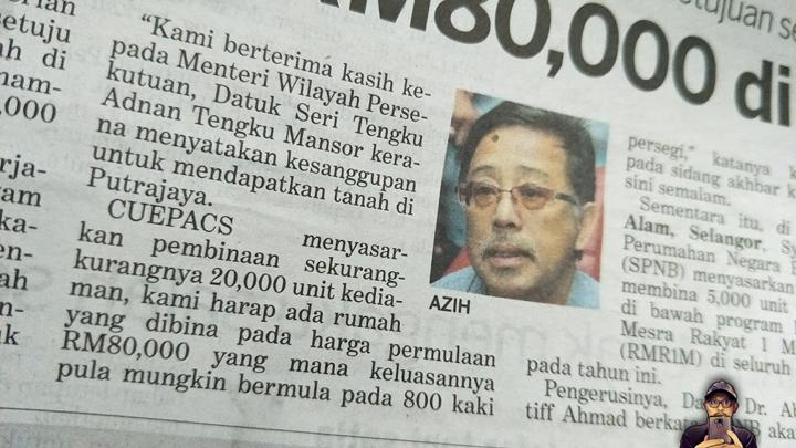 Rumah RM80K di Putrajaya Kakitangan Awam