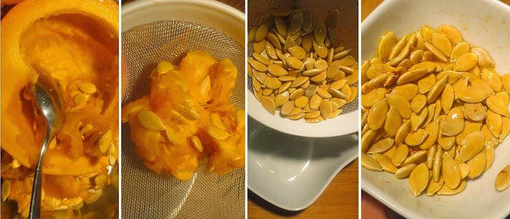 Zubereitung Geröstete Hokkaidokürbiskerne