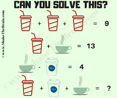 It is math picture brain teaser in which your task is to solve the given math equations