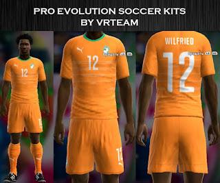 Costa De Marfil 2016 Home kit Pes 2013