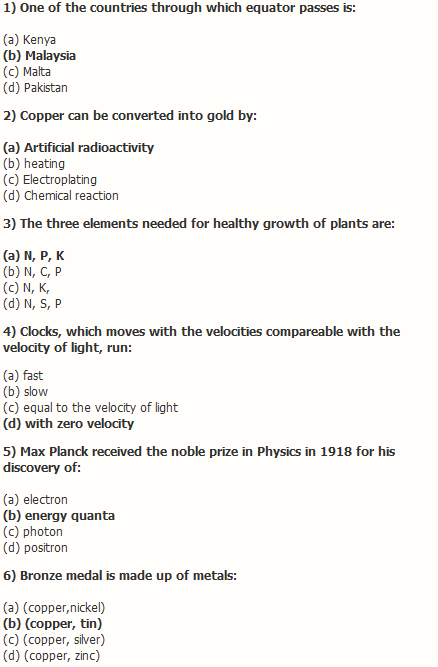basic science answer paper