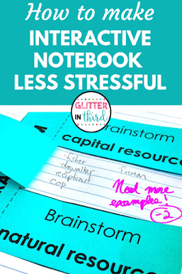Pin of interactive notebook ideas