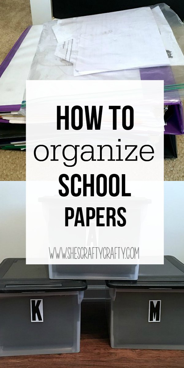 ideas for organizing kids papers and memorabilia