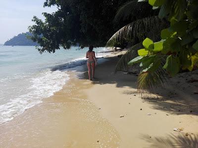Sofi en la playa de tioman island, malasia